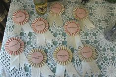 """Ribbons for the back of the chair decor for seating assignments - not just the """"role in the wedding"""""""