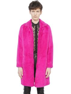 Saint Laurent Mink Fur Coat in Pink for Men (FUCHSIA) | Lyst