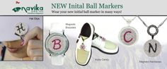 Mark Your Spot with Navika's New Initial Ball Markers! Wear your new initial ball marker as a hat clip, bracelet, kicks candy, or necklace.
