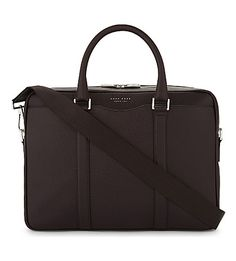Hugo Boss Signature Leather Briefcase In Burgundy Briefcase For Men, Leather Briefcase, Shoulder Strap, Shoulder Bags, Boss Man, Work Bags, Hugo Boss, Burgundy, Mens Fashion