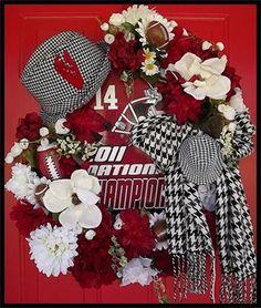 University of Alabama Collegiate Wreath by Petal Pusher's Wreaths & Designs.