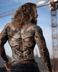 Sexy Tattoos, Unique Tattoos, Beautiful Tattoos, Body Art Tattoos, Sleeve Tattoos, Full Back Tattoos, Back Tattoos For Guys, Back Tattoo Men, Tattoo Henna