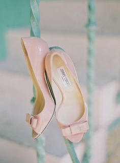 Pink Patent Leather Jimmy Choo Shoes | Michelle March Photography | See More on SMP: http://www.stylemepretty.com/florida-weddings/coral-gables/2013/12/03/biltmore-hotel-wedding-by-michelle-march