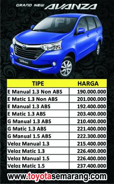 Kredit dan Harga Toyota Avanza di Semarang Demak Purwodadi Kendal Ungaran
