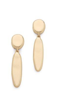 Sam Edelman Oval Double Drop Earrings