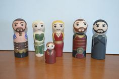 Game of Thrones Peg People by PipsEmporium on Etsy, $31.00
