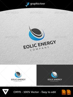 Eolic Energy Logo #GraphicRiver Item Details: • Color CMYK • Fully editable AI and EPS files • Easy editable color and text • Free Font Ubuntu • Two Color Variations For additional information please contact me The font can be Downloaded at ubuntu for free: font.ubuntu Created: 16August13 GraphicsFilesIncluded: VectorEPS #AIIllustrator Layered: Yes MinimumAdobeCSVersion: CS Resolution: Resizable Tags: abstract #aeolian #company #design #eco #electric #electricity #energy #eolian #eolic…