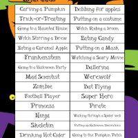 Halloween Charades Words List Header | Halloween | Pinterest ...