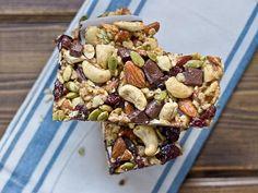 Tart Cherry, Dark Chocolate and Cashew Granola Bars   22 Homemade Breakfast Bar Recipes   Homemade Recipes