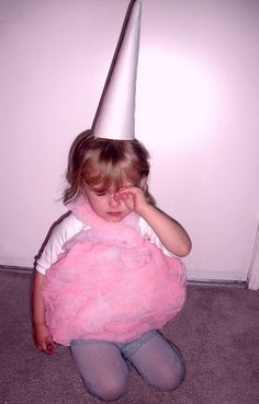 Sleepy little cotton candy girl after a night of trick o' treating. Way waya daddy :(