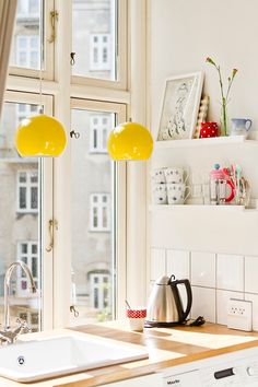 A subtle way to embrace those playful vibes is with new pendant lights or lamp shades.