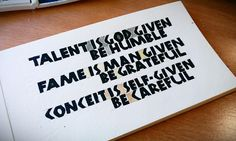 Neuland calligraphy with watercolours (from godets). Be humble!. Caligrafía. Esther Gordo.