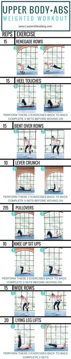 Upper Body and Abs workout | Posted By: AdvancedWeightLossTips.com