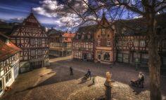 The town square Konig-Adolf-Platz, in Idstein, Germany / by Ole  Steffensen