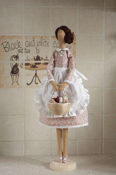 Купить Тильда Хозяюшка. Текстильная интерьерная кукла. - кукла ручной работы, кукла, кукла в подарок