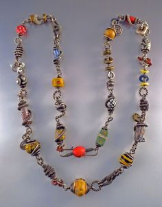 I made this necklace in 2007 after a wonderful workshop with Lynne Merchant, reinforced by an equally wonderful workshop with Barbara Becker...