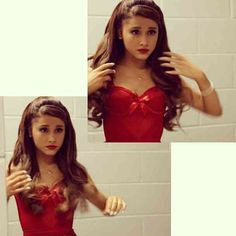 ariana getting ready to perform at justin bieber's believe concert ♡