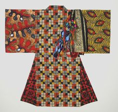 """""""Masako Goes to Africa"""" art quilt by Diane Wright"""