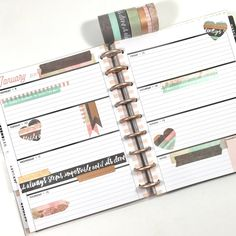 Rose Gold Washi Tape + theCLASSIC 'Rose Gold Horizontal' Happy Planner®by mambi Design Team member Liz Nielson   me & my BIG ideas