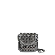 STELLA MCCARTNEY Metallic Falabella Box Wicker Mini Shoulder Bag. #stellamccartney #bags #polyester #leather #lining #metallic #shoulder bags #cotton #