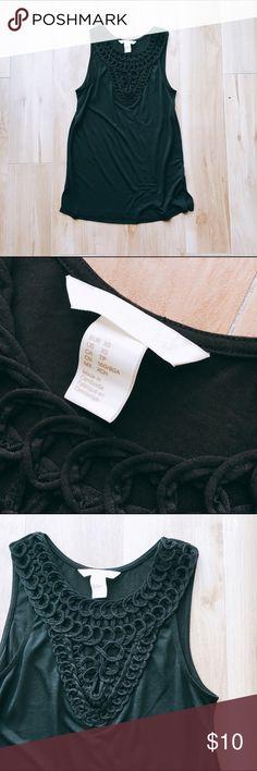 NWOT H&M Crochet Yoke Tank Never worn! H&M Tops Tank Tops