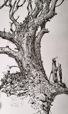 Enjoy an original collection of Sketches by Ian McQue. Ink Pen Drawings, Drawing Sketches, Sketching, Ink Illustrations, Illustration Art, Nature Sketch, Landscape Sketch, Pen Art, Storyboard