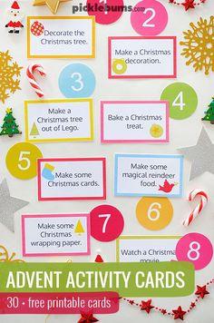 ... countdown to Christmas :: advent printable :: homemade advent calendar