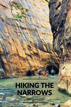 Hiking the Narrows with Kids Hiking With Kids, Road Trip With Kids, Zion Narrows Hike, Nationalparks Usa, Places To Travel, Places To Visit, Kids Places, Travel Stuff, Utah Vacation