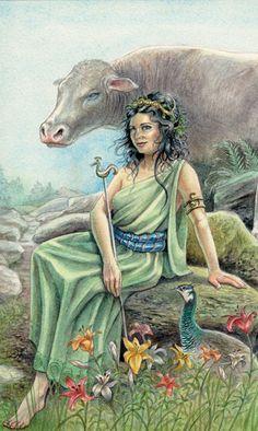 Animals Divine Tarot: Gallery: Major Arcana: The Empress