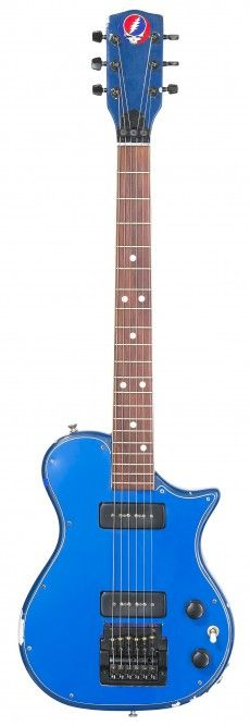 """Jerry Garcia's Grateful Dead Guitar. The solid body sky blue electric that Garcia apparently called """"trainer"""""""