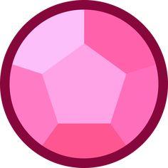 Steven / Rose Quartz Gem from Steven Universe (unknown source)