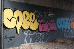 Cope 2 et Indie 184 (New York) - Vitry sur Seine, France Street art event in Paris - Tour Paris 13, Urban art project, October.13