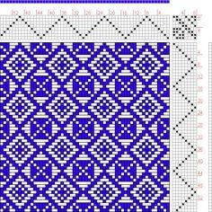 8 shaft swedish lace draft - Google Search