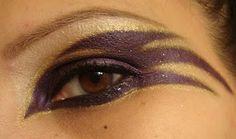 Ravens Eye Makeup #gamedaywives #ravens #makeup