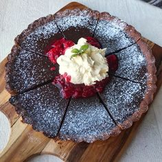 Chocolate Tart Types Of Chocolate, Chocolate Filling, Chocolate Recipes, Berry Coulis, Impressive Desserts, Coffee Mix, My Favorite Food, My Recipes, Tart