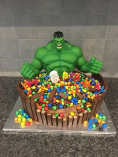 Hulk Smash Birthday Cake That I Made For My 5 Year Olds Birthday