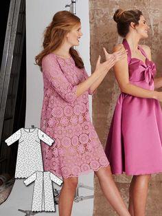 Lace Overlay Dress 03/2016 #107 http://www.burdastyle.com/pattern_store/patterns/lace-overlay-dress-032016?utm_source=burdastyle.com&utm_medium=referral&utm_campaign=bs-tta-bl-160229-BridesmaidDressesCollection107