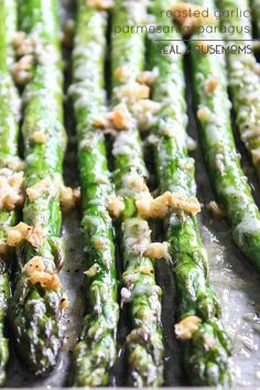 Roasted Parmesan Garlic Asparagus