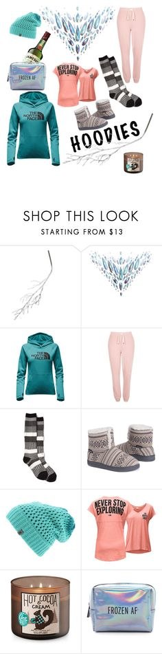 """""""Stay Warm Friends 😁"""" by peacock-style ❤ liked on Polyvore featuring A by Amara, The Gypsy Shrine, The North Face, River Island, Muk Luks, Pinch Provisions and Hoodies"""