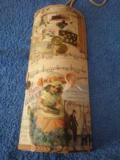 Teja decorada con servilletas, papel de arroz y otros materiales. Estilo vintage | Aprender manualidades es facilisimo.com
