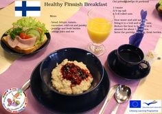 Traditional breakfast in Finland consists of fresh juice & coffee, porridge and whole rye bread topped with cheese and cold sausage cuts. Also variations of egg omelettes are famous! Give it a try!