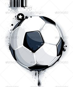 Buy Soccer ball by Vecster on GraphicRiver. Soccer ball on dirty background. Top Soccer, Soccer Ball, Grunge Style, Cool Graphic Tees, Graphic Prints, Vector Design, Web Design, Graffiti, Graphic Design Trends