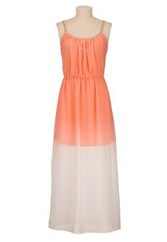 Ombre chain strap maxi dress (original price, $44) available at #Maurices