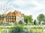 Akvarelmaleri af Nysø af kunstneren Per Birger Henriksen. #praestoe