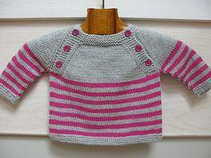 Pull bébé Langoz modèle tricot pdf Français par Plushsoup sur Etsy