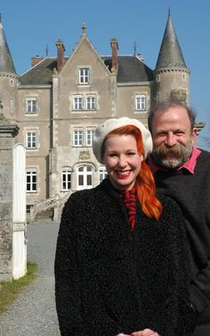 Who are Dick Strawbridge and his wife Angel Adoree? Escape to the Château couple who renovated dream home with forty five rooms and a moat - Mirror Online French Chateau Homes, Royal Military Academy Sandhurst, Angel Adoree, Angel Strawbridge, West Cornwall, French Property, Jim Morrison, Vintage Hairstyles, France