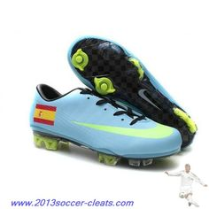 2013 Nike Mercurial Vapor FG Spain team Football Boots Nike Soccer Shoes 359b1a4a84cd1