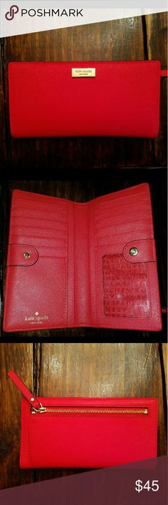 Kate Spade Wallet **SOLD** Only used a few times. Actual color looks like the 4th picture. Great condition Bags Wallets
