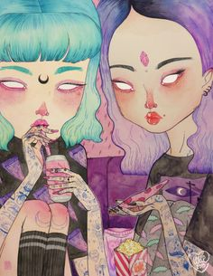 """""""Pizza Party"""" by LOll3. I actually have this print on a tote bag from society 6. It's awesome, check out the artist's work!"""