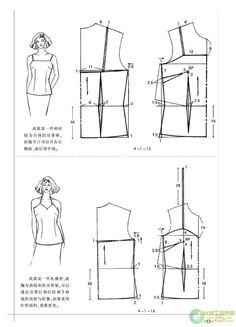 Amazing Sewing Patterns Clone Your Clothes Ideas. Enchanting Sewing Patterns Clone Your Clothes Ideas. T Shirt Sewing Pattern, Easy Sewing Patterns, Pattern Drafting, Blouse Patterns, Clothing Patterns, Simple Dress Pattern, Bodice Pattern, Sewing Blouses, Modelista